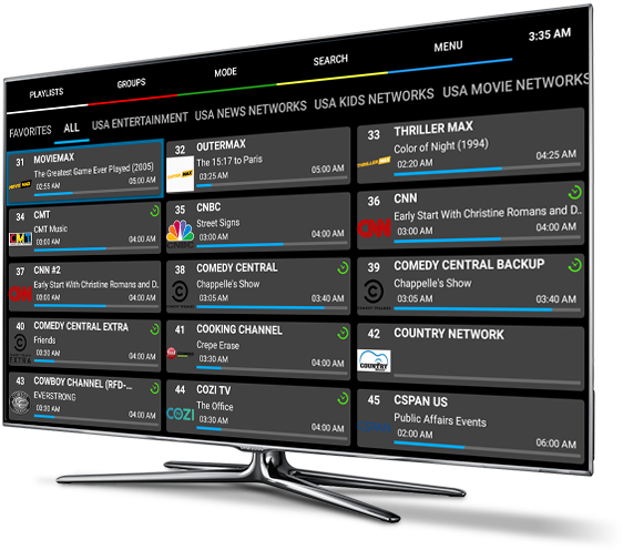 TV with IOTV Dashboard